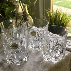 4 CRISTAL D'ARQUES DURAND VERSAILLES ROCKS GLASSES
